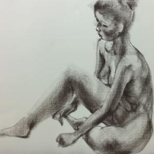 Nude-Muse-angel-Tableau-ヌード-芸術-アート-絵画:蓮初咲