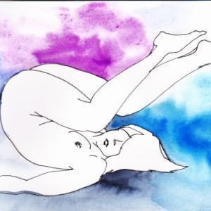 Nude-Muse-angel-Tableau-ヌード-芸術-アート-絵画:天地想像