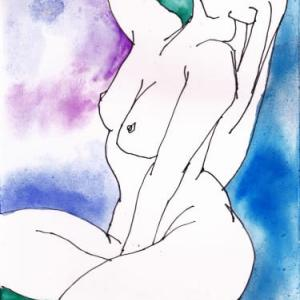 Nude-Muse-angel-Tableau-ヌード-芸術-アート-絵画:無災害祈願