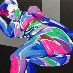 Nude-Muse-angel-Tableau-ヌード-芸術-アート-絵画:後ろから
