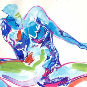 Nude-Muse-angel-Tableau-ヌード-芸術-アート-絵画:発狂