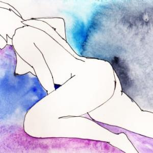 Nude-Muse-angel-Tableau-ヌード-芸術-アート-絵画:フィンガー