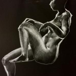 Nude-Muse-angel-Tableau-ヌード-芸術-アート-絵画:秋を待つ