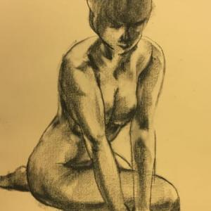 Nude-Muse-angel-Tableau-ヌード-芸術-アート-絵画:懇願