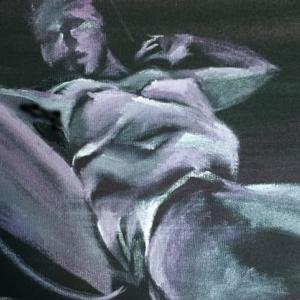 Nude-Muse-angel-Tableau-ヌード-芸術-アート-絵画:野生開放