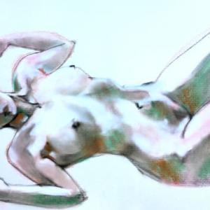 Nude-Muse-angel-Tableau-ヌード-芸術-アート-絵画:ミルキーウエイ