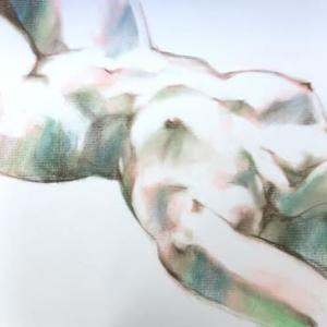 Nude-Muse-angel-Tableau-ヌード-芸術-アート-絵画:シルクスキン