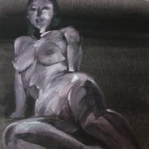 Nude-Muse-angel-Tableau-ヌード-芸術-アート-絵画:地始凍る