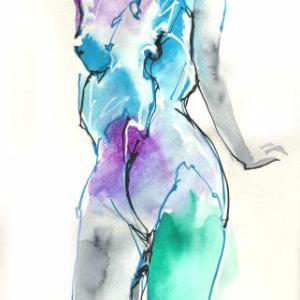 Nude-Muse-angel-Tableau-ヌード-芸術-アート-絵画:もじもじ