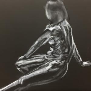 Nude-Muse-angel-Tableau-ヌード-芸術-アート-絵画:キャットウーマン