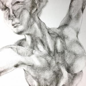 Nude-Muse-angel-Tableau-ヌード-芸術-アート-絵画:乱舞