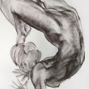 Nude-Muse-angel-Tableau-ヌード-芸術-アート-絵画:大寒