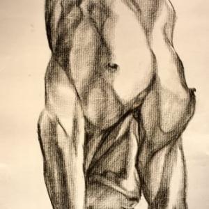 Upside down human nude