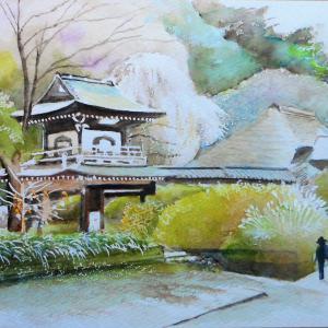 秋を迎える鐘楼門の佇まい 鎌倉浄智寺