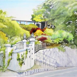 横浜山手西洋館 イタリア山の入口風景