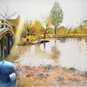 称名寺阿字が池の風景
