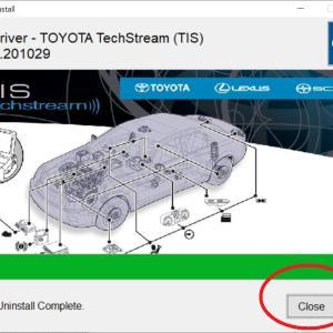 TechStream VXDIAG 通信エラー