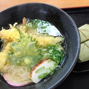 天ぷらにゅうめんと柿の葉寿司