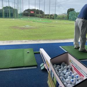 恒例のゴルフ打ち放題です!