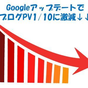 【Googleアップデート】ブログPVが1/10に激減してもはや虫の息