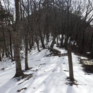 2020年2月20日(木) 雪の少ない大普賢岳