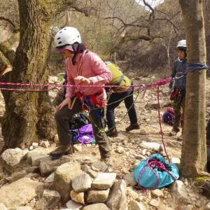 2020年3月13日(金) 蓬莱峡で岩場通過の練習