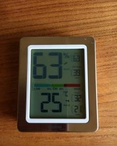 室内の湿度をはかりたい。