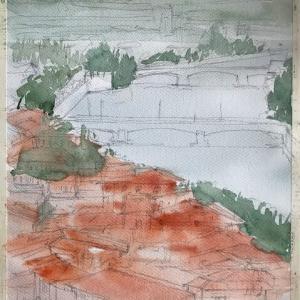 「 ヴェローナ 6 サン・ピエトロの丘の俯瞰 1 」