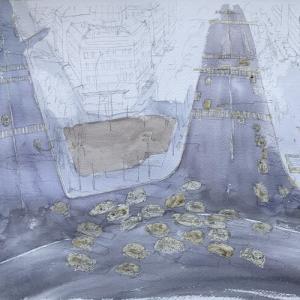 パリの思い出 「 シャンゼリゼ俯瞰 」