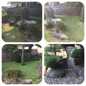 歳を取ると【庭】は邪魔物でしか有りません・・・。除草シート・人工芝