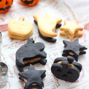TOMIZ【新着レシピ公開】さくさく!ハロウィンクッキーのピーナッツバターサンド