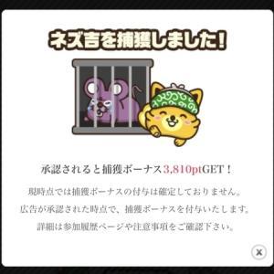 ポイントインカム、カムtoクーポンHMBサプリ約700円お小遣いつき!ついでにネズ吉も捕獲!やってきました