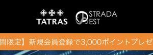 ストラダエスト、会員登録で3000円タダポチ+送料600円で買えます!トミカあり
