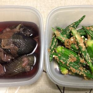 ピーマンの肉詰めと常備菜。