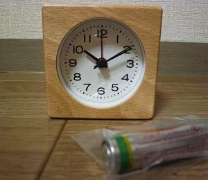 無印ブナ材時計