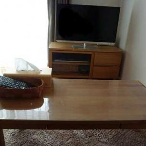 テーブルの上が少しスッキリ