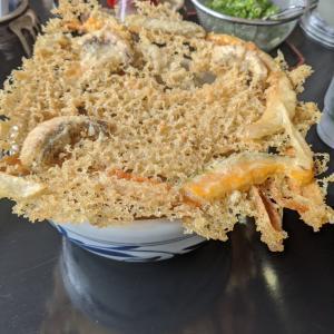 天ぷらが大きい~。