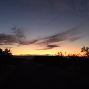 清清しい砂漠の朝