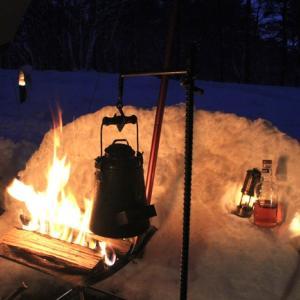 手作りリフレクターで焚火が盛り上がる!テンマクPEPOで豪雪キャンプ