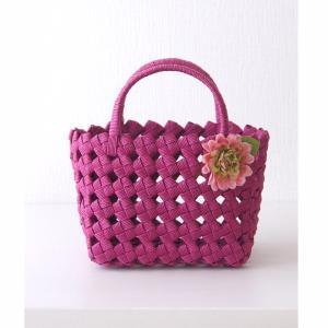 小さめがかわいい四つ畳みのミニバッグを編もう!