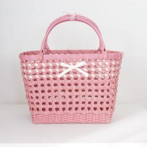 透け感がかわいいもろこし編みバッグ