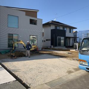 山陽小野田市 一条工務店 新築外構 ♪ 雨が降る前に掘削作業が完了 S-STYLE GARDEN