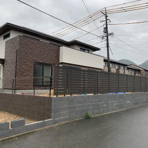 山口市 トヨタホーム 新築外構 ♪ 境界フェンスに LIXIL フェンスAB YS3型
