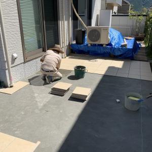 山口市 ガーデンリフォーム ♪ お庭スッキリ タイルテラス S-STYLE GARDEN