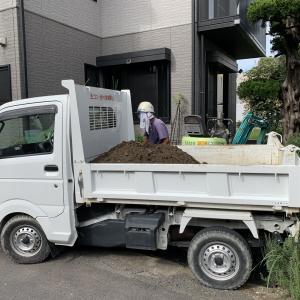 山口市 外構リフォーム ♪ 軽トラダンプが活躍!掘削作業中 S-STYLE GARDEN