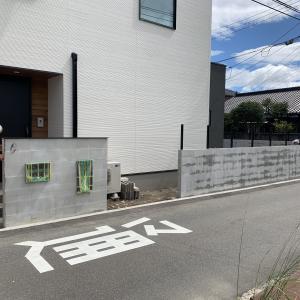 防府市 新築外構 ♪ 門柱と塀のお化粧中 S-STYLE GARDEN