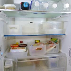 冷蔵庫内を掃除、心もスッキリ♪