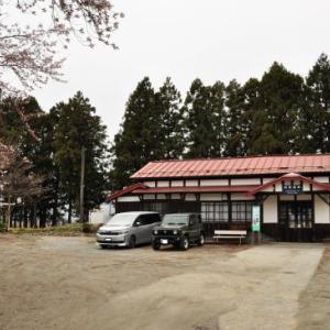 桜狩り 3日目 ➂登録有形文化財の羽前成田駅と桜