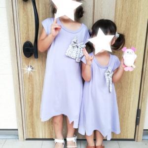 姉妹コーデ&次女の予防接種