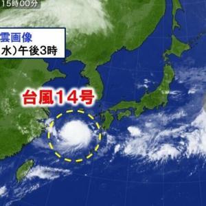 台風14号と食